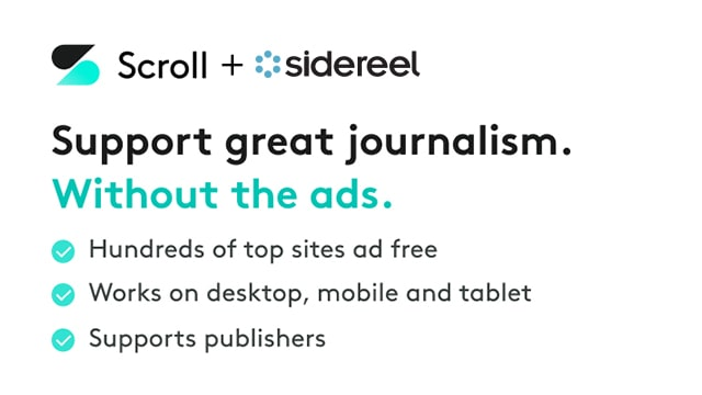 Support SideReel and Go Ad-Free with Scroll